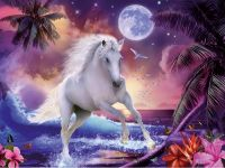 Собирать пазл Лошадь в море онлайн
