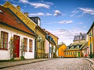 Собирать пазл Лунд Швеция онлайн