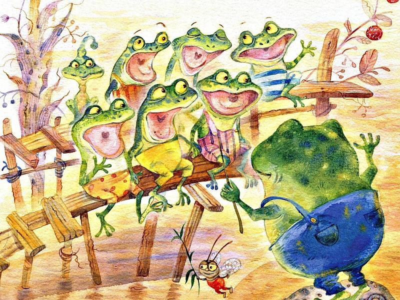 Картинки хор лягушек