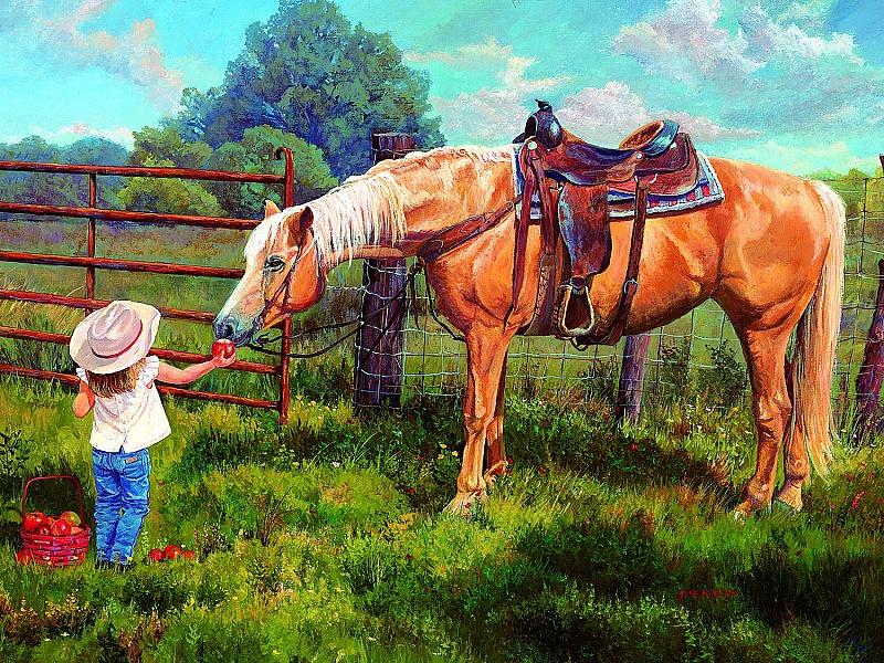 Пазл Собирать пазлы онлайн - Любимая лошадка