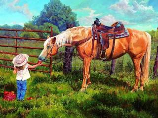 Собирать пазл Любимая лошадка онлайн