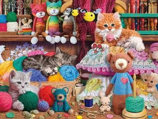 Собирать пазл Любимые игрушки онлайн