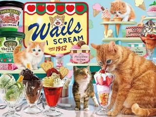 Собирать пазл Любители мороженого онлайн