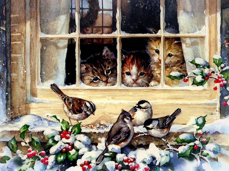 Пазл Собирать пазлы онлайн - Любопытные котята