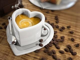 Собирать пазл Любовь к кофе онлайн