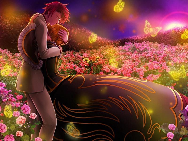 Пазл Собирать пазлы онлайн - Любовь среди роз