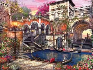 Собирать пазл Любовь в Венеции онлайн