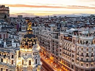 Собирать пазл Мадрид Испания онлайн