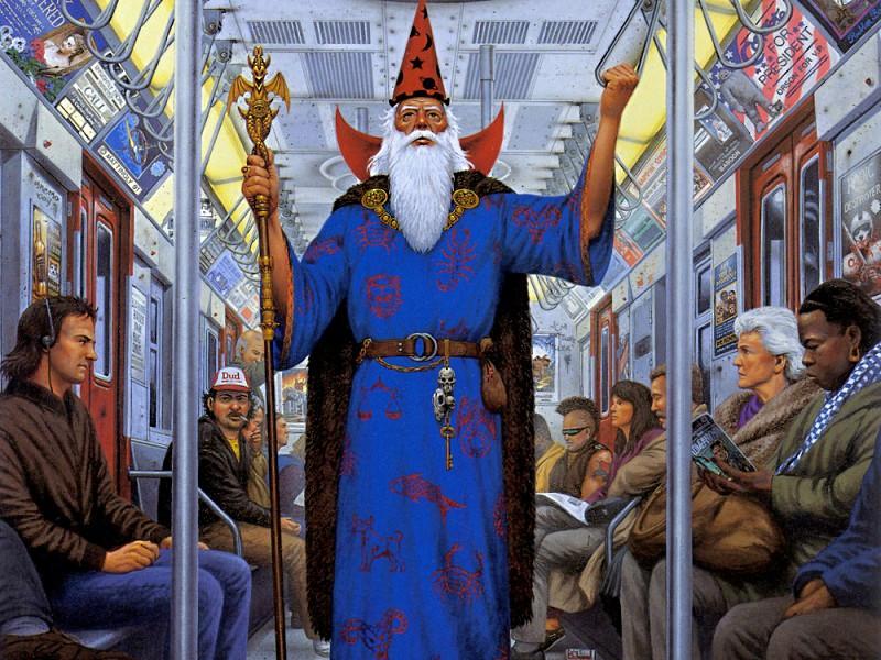 Пазл Собирать пазлы онлайн - Маг в метро