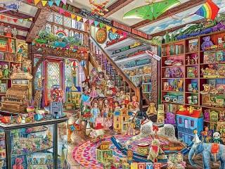Собирать пазл Магазин фантазий онлайн