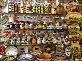 Собирать пазл Магазин керамики онлайн