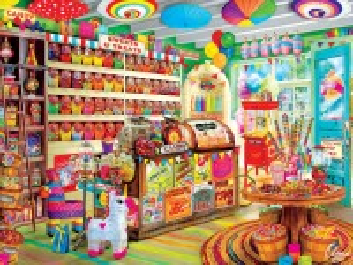 Собирать пазл Магазин конфет онлайн