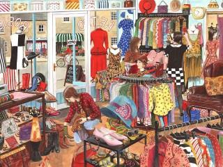 Собирать пазл Магазин одежды онлайн