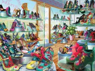 Собирать пазл Магазин туфель онлайн