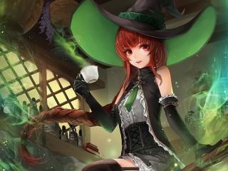 Собирать пазл Магический напиток онлайн