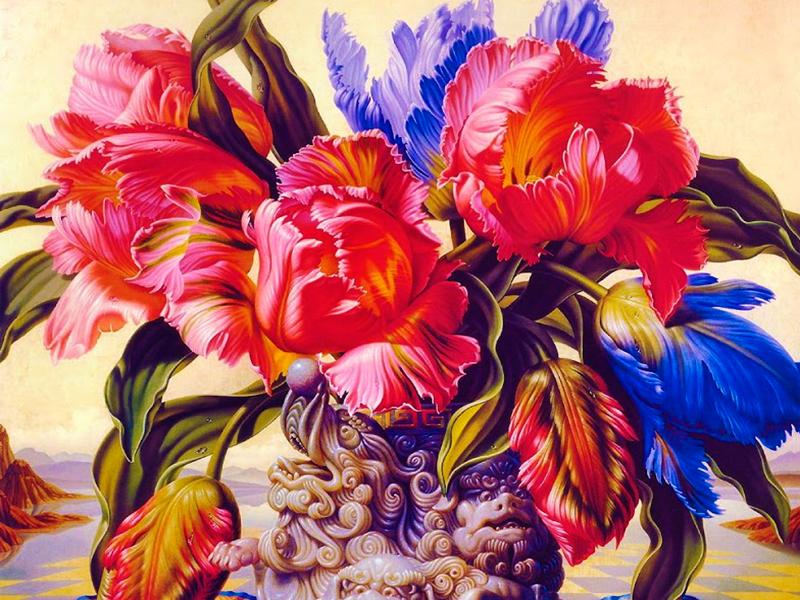 Пазл Собирать пазлы онлайн - Махровые тюльпаны