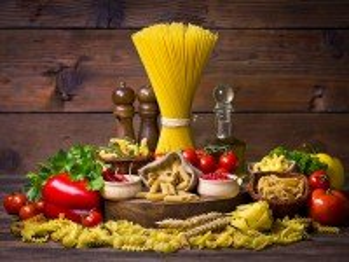 Собирать пазл Макароны и овощи онлайн