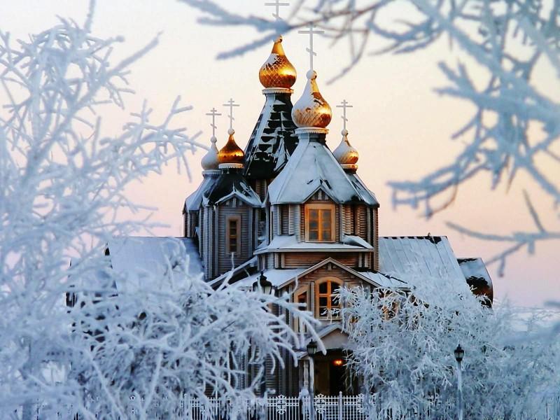 Пазл Собирать пазлы онлайн - Маковки зимой