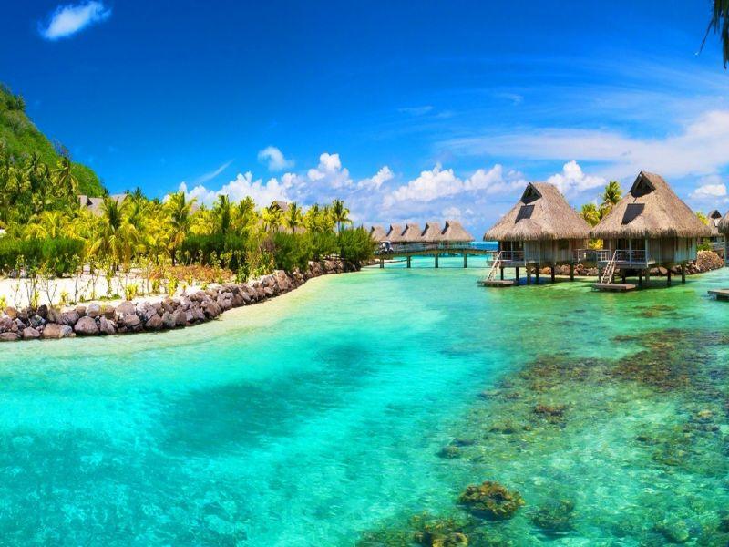Пазл Собирать пазлы онлайн - Мальдивы берег
