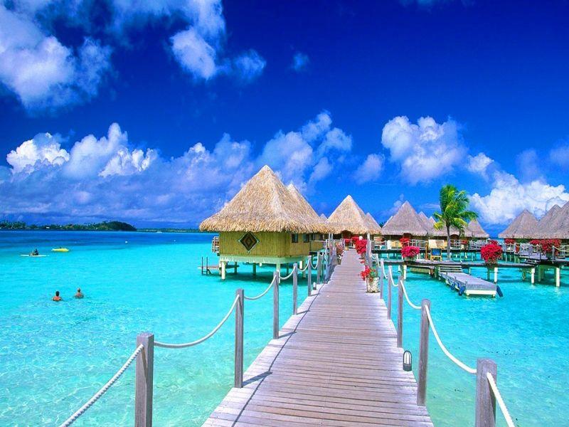 Пазл Собирать пазлы онлайн - Мальдивы мост