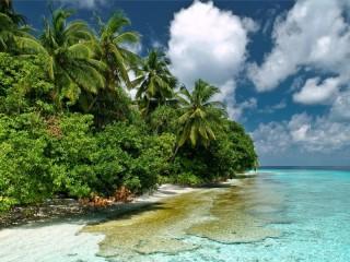 Собирать пазл Мальдивы океан онлайн