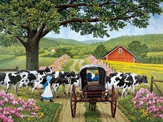 Собирать пазл Маленькая пастушка онлайн