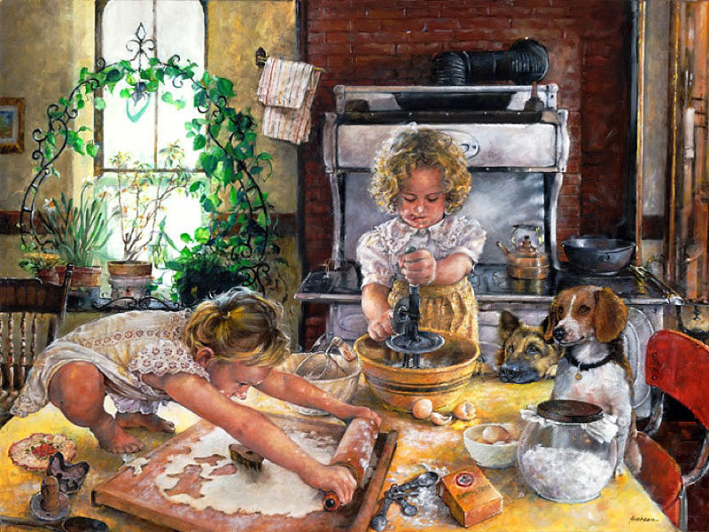 Пазл Собирать пазлы онлайн - Маленькие кулинарки