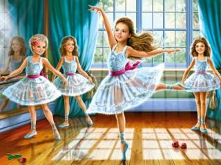 Собирать пазл Маленькие балерины онлайн
