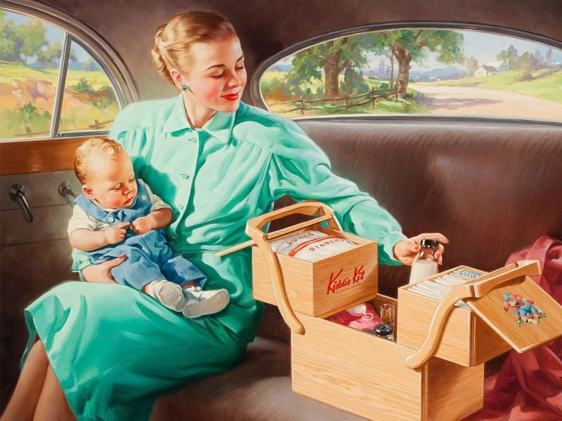 Пазл Собирать пазлы онлайн - Мамочка с малышом