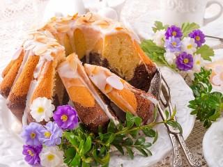 Собирать пазл Мраморный кекс онлайн