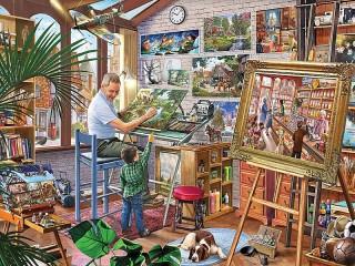 Собирать пазл Мастерская художника онлайн