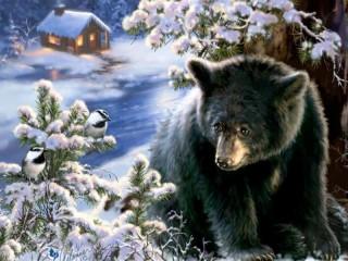 Собирать пазл Медведь онлайн
