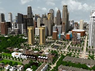 Собирать пазл Мегаполис в Майнкрафт онлайн