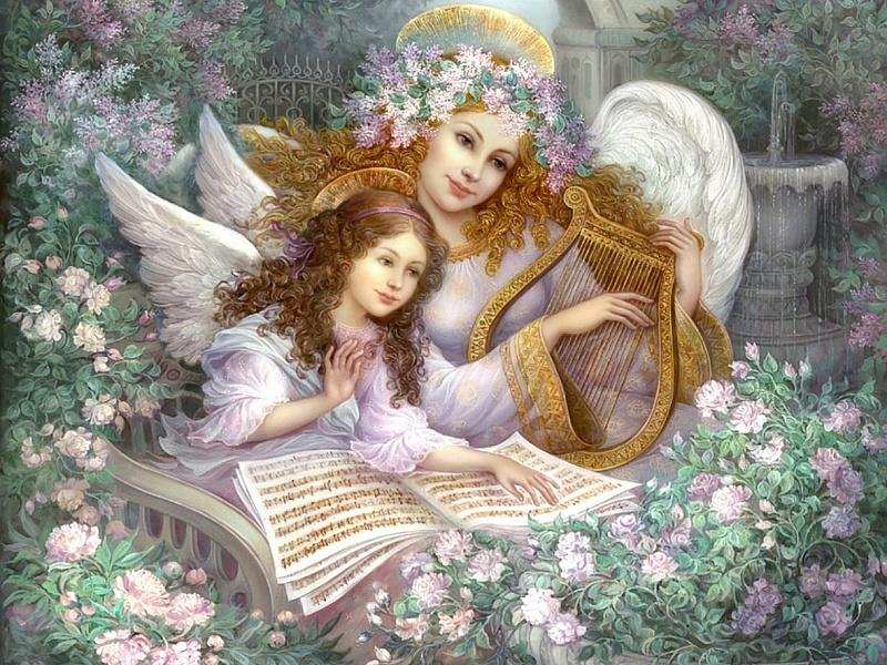 Пазл Собирать пазлы онлайн - Мелодия ангелов