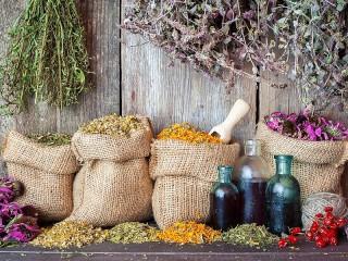 Собирать пазл Мешочки с травами онлайн