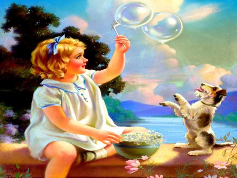 Пазл Собирать пазлы онлайн - Мыльные пузыри