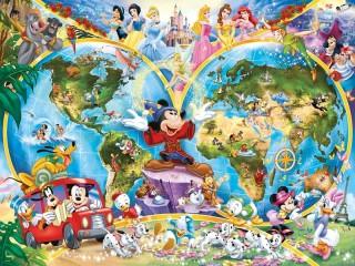 Собирать пазл Мир Дисней онлайн
