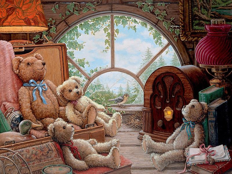 Пазл Собирать пазлы онлайн - Мишки Тедди