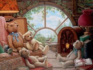 Собирать пазл Мишки Тедди онлайн