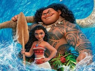 Собирать пазл Моана и Мауи онлайн