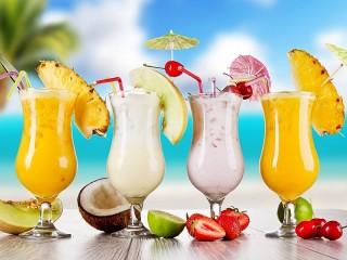 Собирать пазл Молочные коктейли онлайн