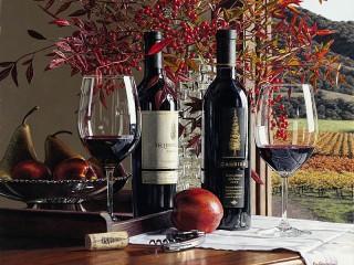 Собирать пазл Молодое вино онлайн