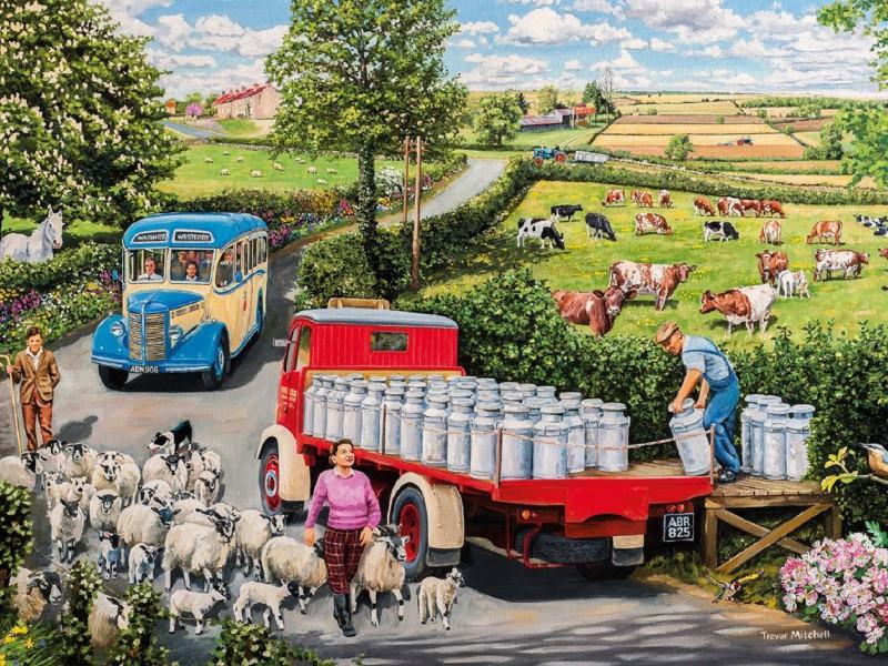 Пазл Собирать пазлы онлайн - Молоко с фермы