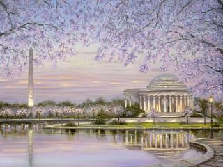 Собирать пазл Монумент Вашингтона онлайн