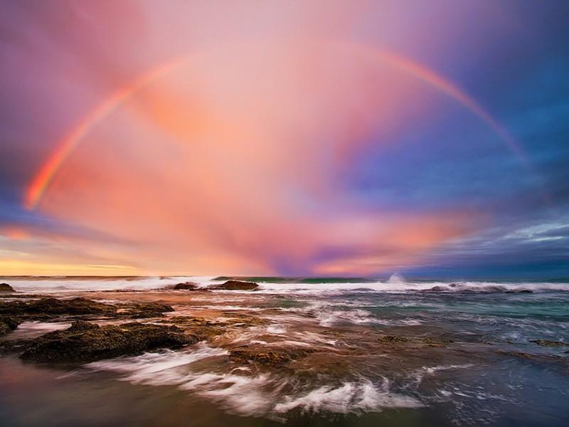 Пазл Собирать пазлы онлайн - Море и радуга