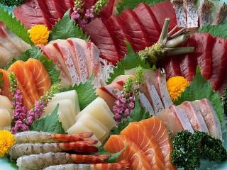 Собирать пазл Морепродукты онлайн