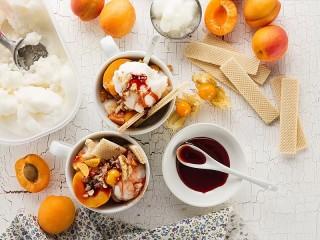 Собирать пазл Мороженое с фруктами онлайн