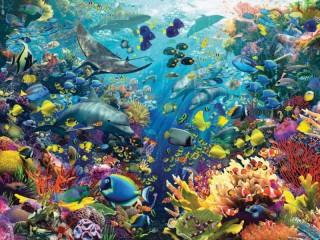 Собирать пазл Морские обитатели онлайн