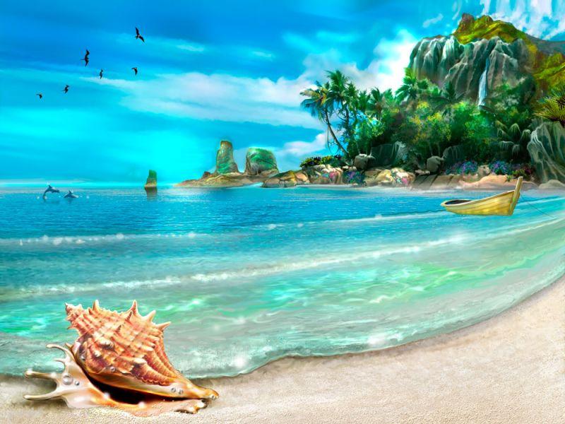 Пазл Собирать пазлы онлайн - Морской берег