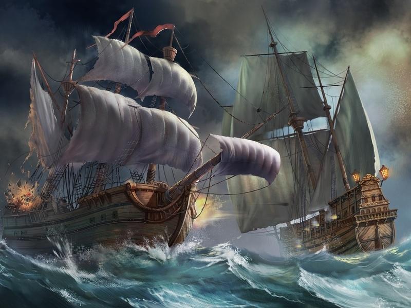 Пазл Собирать пазлы онлайн - Морской бой
